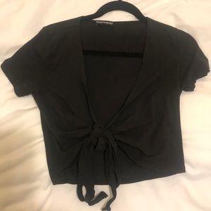 Brandy Melville Black Tie Top